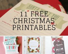 11 Free Christmas Printables You Need| Be sure to check out these awesome Christmas crafts!