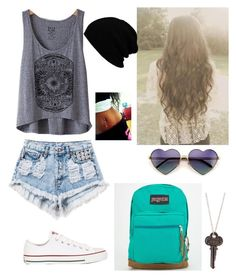 """Summer outfit"" by classyqueenbee ❤ liked on Polyvore featuring moda, Billabong, Runwaydreamz, Wildfox, Converse y JanSport"