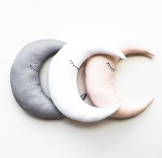 Moon pillows in dreamy colours!!