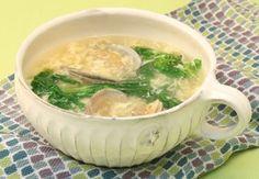菜の花とあさりのふんわり卵スープ