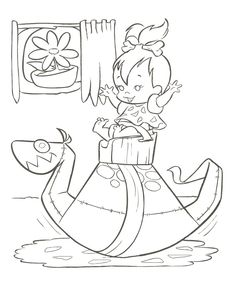 Flintstones Coloring Page Quote Coloring Pages, Colouring Pics, Cartoon Coloring Pages, Coloring For Kids, Coloring Pages For Kids, Cartoon Art, Coloring Books, Coloring Sheets, Print Pictures