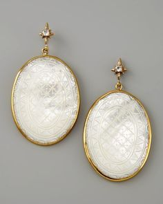 Stephen Dweck Etched Mother-of-Pearl Drop Earrings