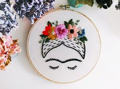 "Items similar to Frida Kahlo Embroidery Art 6"" hoop on Etsy"