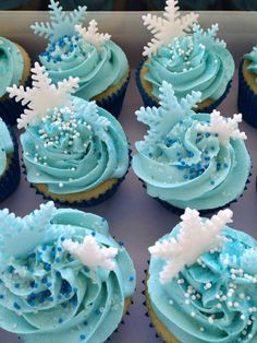 Frozen Two Toned Cupcakes Anna Colours Birthday