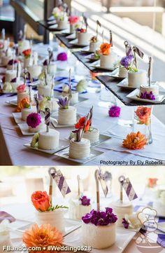 "Design W 0528 | Butter Cream Wedding Cake | 3.5"" Personal Cakes | Textured Butter Cream, Fresh Flowers | Custom Quote"