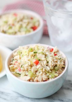 18 Delish Leftover Rice Recipes You Wish You Knew About Sooner Leftover Rice Recipes: Get the recipe for this brown rice tuna salad from The Honour System. Clean Eating Recipes, Healthy Dinner Recipes, Whole Food Recipes, Healthy Eating, Lunch Recipes, Meal Recipes, Healthy Meals, Free Recipes, Healthy Tuna