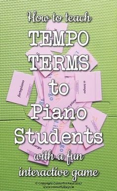 Practice Italian terms in the piano studio with this fab music theory game. http://colourfulkeys.ie/marvellous-game-teaching-musical-terms/