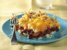 Barbecue Beef and Potato Bake - Good comfort food (and I typically use BBQ chicken or pork)