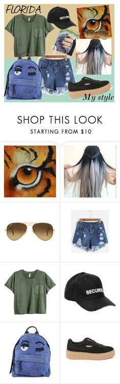 """My style"" by floridanuha ❤ liked on Polyvore featuring Ray-Ban, Vetements, Chiara Ferragni and Puma"