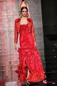 vestidos flamenco rojo de encaje - Pesquisa Google