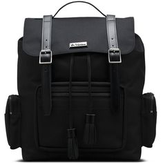 Dr. Martens Utility Large Slouch Backpack (215 CAD) ❤ liked on Polyvore featuring bags, backpacks, black, slouch backpack, dr martens backpack, dr. martens, slouchy backpack and slouch bag