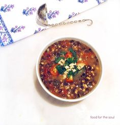Sprouted Lentil Soup
