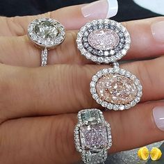 Novel Collection fancy color diamond rings