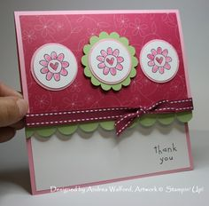 flowers stampin' up card