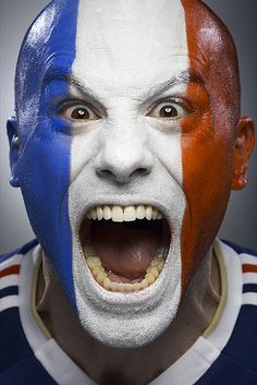 French soccer fan photo by Monte Isom