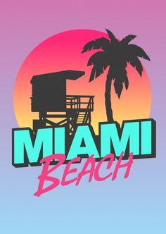 Miami – 80s Retro Style   Urlaubsgrüße   Echte Postkarten online versenden…
