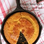 Crispy southern cornbread complete with cast iron baking instructions. This recipe doesn't have sugar, but you could easily add it. food dishes Southern cornbread is crispy outside, tender inside and ready for all of your favorite cold weather dishes. Cooks Country Recipes, Country Cooking, Southern Recipes, Cooking Recipes, Easy Recipes, Southern Food, Skillet Recipes, Southern Comfort, Southern Style