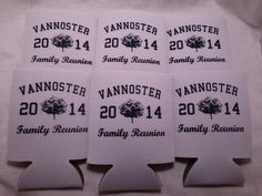 Personalized Family reunion koozies custom can coolers low minimums fast ship Family Reunion Food, Family Reunion Shirts, Family Fun Day, Family Reunions, School Reunion, Thing 1, Family Affair, Vacation Ideas, Coolers