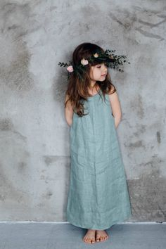 Handmade Linen Summer Dress   TinyBunnyKids on Etsy