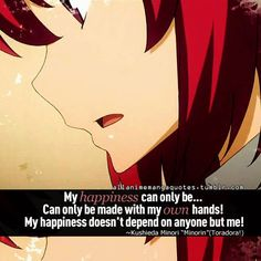 toradora quotes | Anime Quote #155 by Anime-Quotes