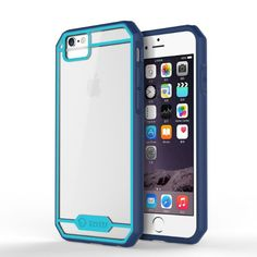 iPhone 6 Case'TOTU®⌈Scratch Resistant⌋ Slim Clear Back Panel Transparent Hybrid Bumper Cover Fit For iPhone6 4.7″⌈Retail Packaging⌋'⌈Lifetime Warranty⌋DarkBlue/Sky Blue #totu #cases See detail at http://zingxoom.com/d/cwHHJ7Zg