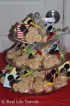 Mickey Mouse Rice Krispie Treat Favors
