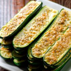 Parmesan Zucchini Sticks are 20 minute healthy baked zucchini recipe that is veggie and flavour packed.   ifoodreal.com
