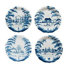 Juliska Country Estate Party Plates, Set of 4 | Bloomingdale's