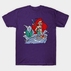 the sea predator T-Shirt - Little Mermaid T-Shirt is $13 today at TeePublic! Predator, The Little Mermaid, Mens Tops, T Shirt, Things To Sell, Fashion, Supreme T Shirt, Moda, Tee