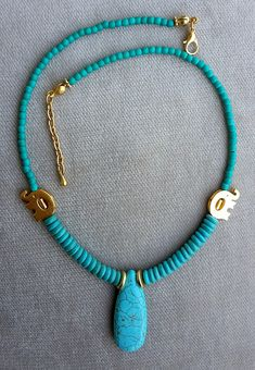 turquoise turquoise necklace stylish necklace gold plated