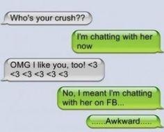Awkward crush texting fail