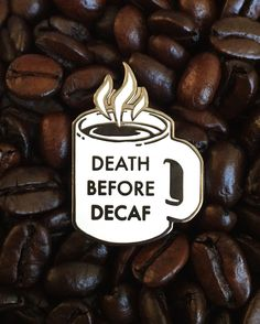 Diner Coffee collaboration pin from myself @pinlord and the deliciously vegan @champsdiner  Death before decaf!  Buy it through my @pinlord link in bio!