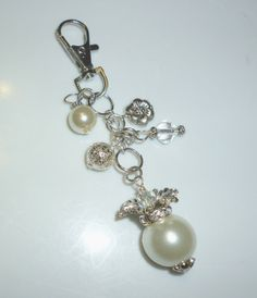 Winter White Purse Bling by RoseyCreek on Etsy, $5.00 Pearl Earrings, Drop Earrings, White Purses, Winter White, Charms, Angels, Bling, Trending Outfits, Unique Jewelry