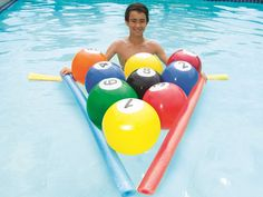 The hottest game of the season! Swimways Blow Up Billiards for Pools presented by Pool Toy Express is a must-have for every pool party. Package includes nine inflatable numbered pool balls and one inf