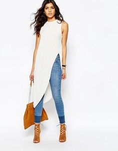 River Island | River Island Split Side Aysmmetric Tunic at ASOS