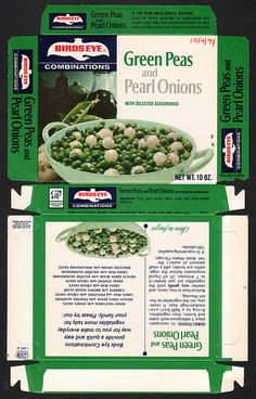 General Foods Birds Eye Combinations Green Peas and Pearl Onions October 4 1971 by JasonLiebig, via Flickr