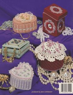 Treasure-Boxes-Plastic-Canvas-Pattern-Booklet-ASN-3124-Jewelry-Box-Trinket-Box
