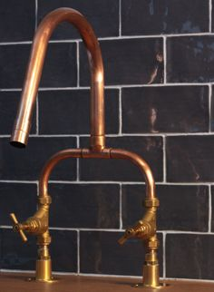 Creative and vintage looking copper industrial taps Looks great