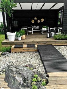 70 magical side yard and backyard gravel garden design ideas – Patio Garden ideas - How to Make Gardening Gravel Garden, Garden Landscaping, Landscaping Ideas, Terrace Garden, Luxury Landscaping, Garden Ideas Using Gravel, Garden Seating, Cosy Garden Ideas, Back Garden Ideas