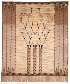 Textile by Loja Saarinen Textile Texture, Textile Fiber Art, Textile Artists, Weaving Textiles, Tapestry Weaving, Scandinavian Embroidery, Rya Rug, Cotton Silk Fabric, Surface Pattern Design