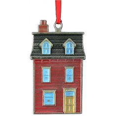 Newfoundland Row House Christmas Ornament