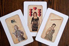 Mad Men Tarot Postcards = Amazing. $10.00, etsy.com.