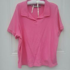 Pink Polo Worn once Croft & Barrow Tops Button Down Shirts