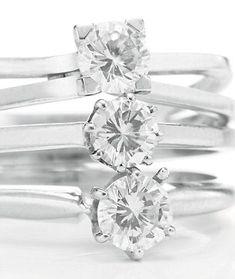 Liz won a game of 'Ping Pong' so, Richard Burton purchased this stack of 3 diamond rings...