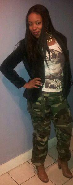 Army fatigue  bob marley Tee Army Fatigue, Camo Fashion, Bob Marley, Fall Outfits, War, Tees, How To Wear, T Shirts, Autumn Outfits