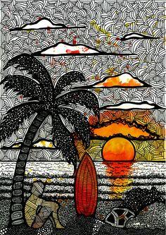 Surfista na praia - Luciana Pupo Artist