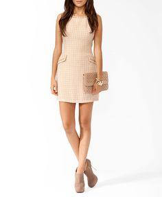 Chain Trimmed Bouclé Dress | FOREVER21 - 2025101782