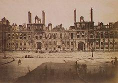Hôtel de ville (faÁade), Siege of Paris, Special Collections, Northwestern University Library