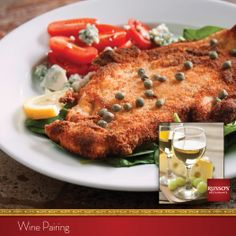 Tantalize your taste buds with a smooth, crisp Chardonay paired with our Chicken Milanese.