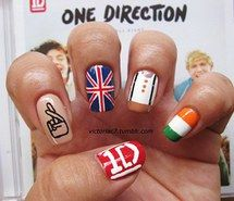 Inspiring picture british, design, irish, niall, cute, make up, harry, liam, nails, zayn, louis, 1d, one direction. Resolution: 500x382. Find the picture to your taste!